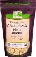 NOW   Real Food Dry Roasted Macadamia Nuts - Sea Salt