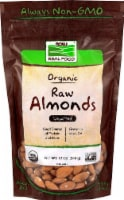 NOW   Real Food Organic Raw Unsalted Shelled Almonds - 12 oz