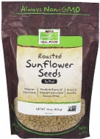 NOW   Real Food Roasted Sunflower Seeds Salted - 16 oz