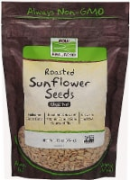 NOW   Real Food Roasted Sunflower Seeds Unsalted - 16 oz