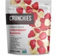 Crunchies Freeze Dried Strawberry Banana Fruit Snack