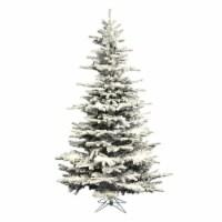 10' x 68  Flocked Sierra Fir Tree 2302T - 1