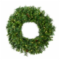 144  Cheyenne Pine Wreath 1400WmWht LED - 1