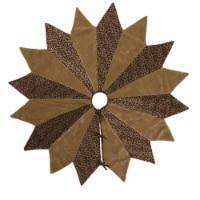 Vickerman QTX17080 60 in. Brocade Brilliance Gold Tree Skirt - 1