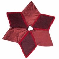 Vickerman QTX17101 60 in. Burgundy Frost Tree Skirt - 1