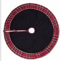 Vickerman QTX17141 60 in. Scotsman Collection Black Tree Skirt - 1