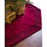 Vickerman QTX17771 60 in. Plush Wine Velvet Tree Skirt - 1
