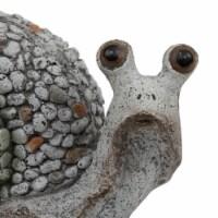 """7.5"""" Gray Snail Outdoor Garden"""