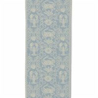 Heritage Lace CD-1454SB Crab Damask 14 x 54 in. Runner - Sea Blue