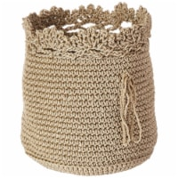 Heritage Lace MC-1050TN Mode Crochet Basket with Trim, Tan - Set of 3