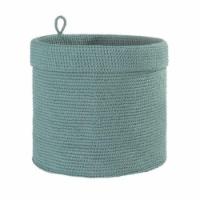 Heritage Lace MC-1115SS 12 x 12 in. Mode Crochet Round Basket, Sea Spray - 1