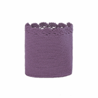 Heritage Lace MC-1110LV 8 x 8 in. Mode Crochet Basket with Trim, Lavender - 1