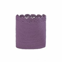 Heritage Lace MC-1110LV 8 x 8 in. Mode Crochet Basket with Trim, Lavender