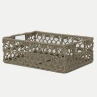 Heritage Lace MC-1120TN Mode Crochet Basket, Tan - 12 x 9 x 5 in.