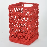 Heritage Lace MC-1125RR Mode Crochet Basket, Ruby Red - 9 x 5.5 x 5.5 in.