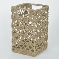 Heritage Lace MC-1125TN Mode Crochet Basket, Tan - 9 x 5.5 x 5.5 in. - 1