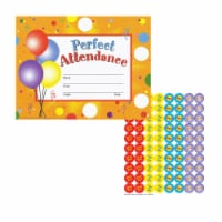 Prefect Attendance Certificates and Reward Seals Pack of 5 - 8.5 x 11