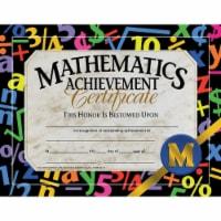 Mathematic Achievement Certificate, 8.5  x 11 , Pack of 30 - 1