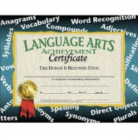 Language Arts Achievement Certificate, 8.5  x 11 , Pack of 30 - 1
