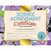 Science Achievement Certificate, 8.5  x 11 , Pack of 30 - 1