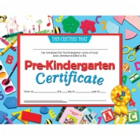 Pre-Kindergarten Certificate, 8.5  x 11 , Pack of 30 - 1