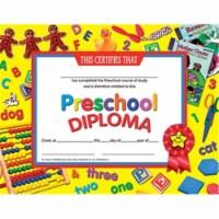 Preschool Diploma, 8.5  x 11 , Pack of 30 - 1