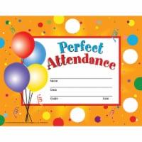 Perfect Attendance Certificates & Reward Seals - 30 8.5  x 11  Certificates, 160 Seals - 1