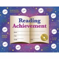 Reading Achievement Certificates and Reward Seals, 8.5  x 11 , 30 Certificates - 1