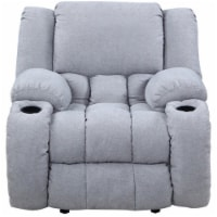 Nathaniel Home Lyla Plush Microfiber Upholstered Recliner in Gray - 1