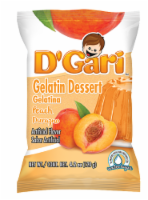 D'Gari Peach Gelatin Dessert Water Mix