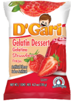 D'Gari Strawberry Gelatin Dessert Water Mix