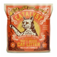 Catalyst Upcycled Soft Wood Cat Litter Odor Control Multi Cat Formula, 10 Pounds