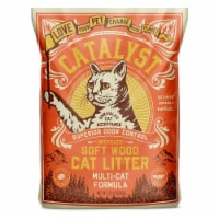 Catalyst Upcycled Soft Wood Cat Litter Odor Control Multi Cat Formula, 20 Pounds