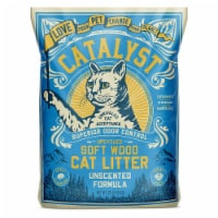 Catalyst Upcycled Soft Wood Cat Litter Odor Control Unscented Formula, 20 Pounds