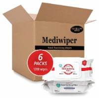 Mediwiper 1200 wipes Antibacterial Alcohol-Free Hand Sanitizer Wipes - 200 Count, 6 Packs - 1200 wipes