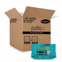 (64PK)pullio - Peppermint Antibacterial Hypoallergenic Hand Sanitizer Wipes_20ct, 1280 Wipes