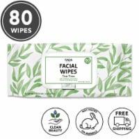 TADA 80 Wipes Tea Tree Facial Cleansing Wipes, 15.5 Fl. Oz. - 440 g
