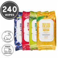FARMSKIN 4 Packs Facial Cleansing Wipes 4 Set for All Skin Types (Freshfood)