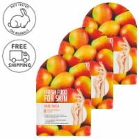 FARMSKIN 3 Sheets Nourishing Mango Hand Masks (Freshfood)