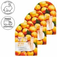 FARMSKIN 3 Sheets Softening Apricot Foot Masks (Freshfood)