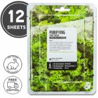 FARMSKIN 12 Sheets Purifying Kale Facial Sheet Masks (Superfood)