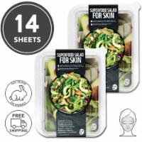 FARMSKIN 14 Sheets Facial Sheet Mask Avocado Salad 2 Sets (Superfood)