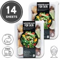FARMSKIN 14 Sheets Facial Sheet Mask Coconut Salad 2 Sets (Superfood)
