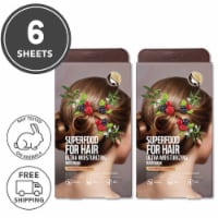 FARMSKIN Superfood for Hair Care Mask Cap Ultra Moisturizing Blackberry 2 Set (Pack of 6)