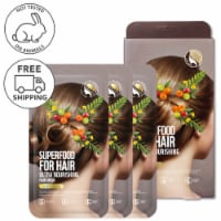 FARMSKIN Superfood for Hair Care Hair Mask Cap Ultra Nourishing Olive Set (Pack of 3)