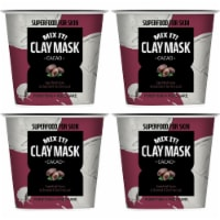 Farmskin 4 Packs Purifying Pore-Care Cacao Clay Masks (Superfood) - 1.26 fl. Oz / Pack