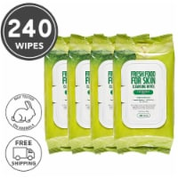 FARMSKIN 4 Packs Apple Cleansing Wipes for Oily Skin (Freshfood)