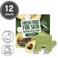 Farmskin 12 Packs Smoothing Avocado Puzzle Soaps (Freshfood) - 30 g / Soap
