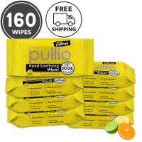 (8PK) pullio - Citrus Antibacterial Hypoallergenic Hand Sanitizer Wipes - 20ct, 160 Wipes