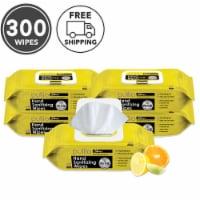 pullio - 5 Packs of Hand Sanitizer Citrus Wet Wipes 60ct -Antibacterial Hand  Wipes